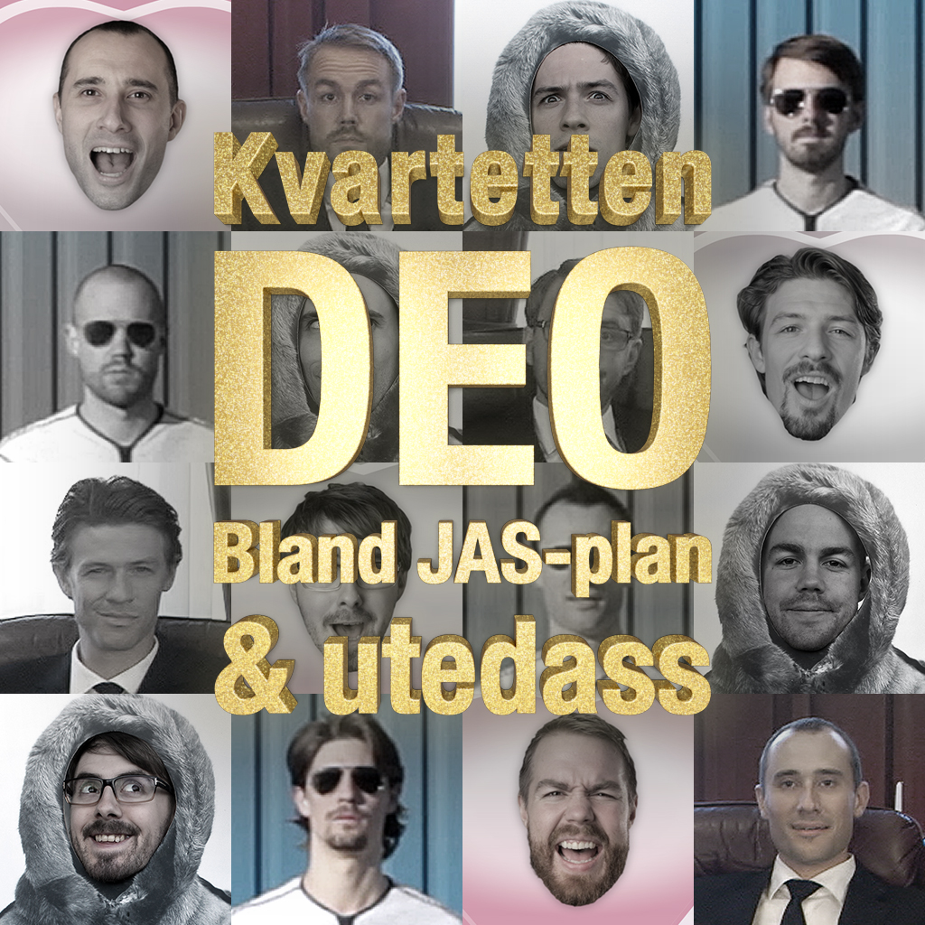 Kvartetten DEO - Bland JAS-plan & utedass - Poster 1.4